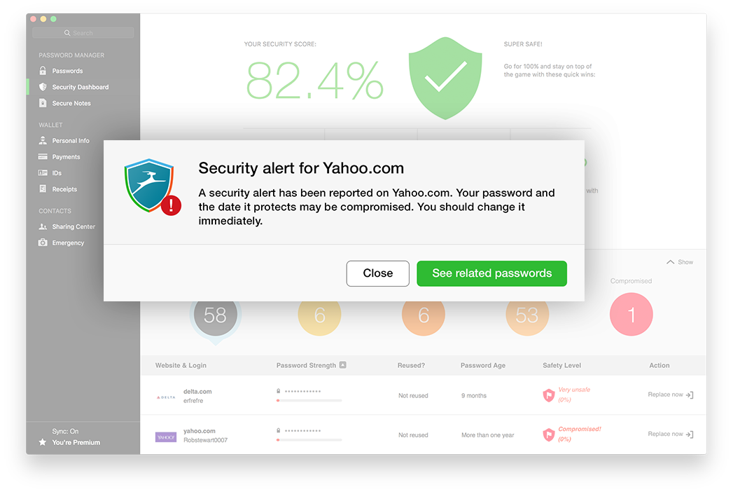 Security alerts