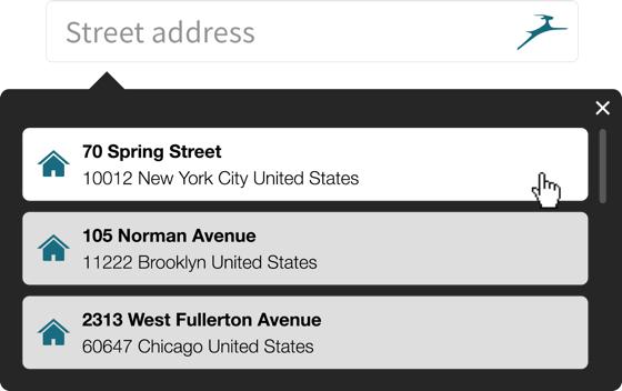 Address autofill