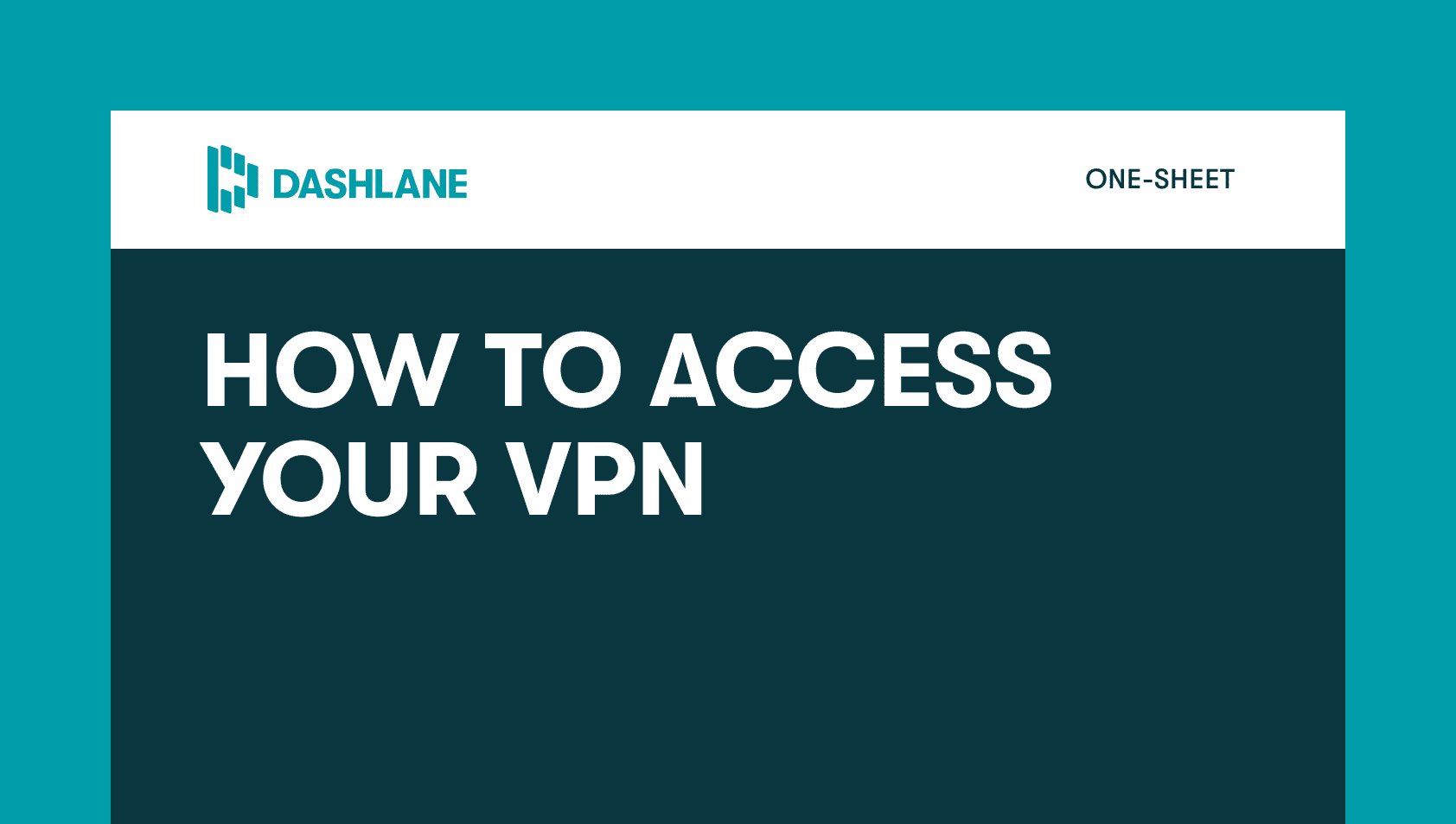 how to access your vpn