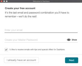 Übersicht: E-Mail-Eingabe