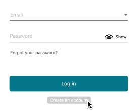 Create account outline