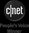 Winnaar van de People's Voice Award van CNET