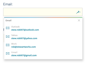 Preenchimento automático de palavras-passe do navegador